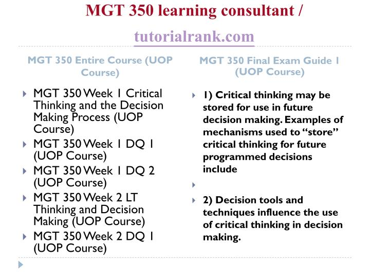 Mgt 350 learning consultant tutorialrank com1