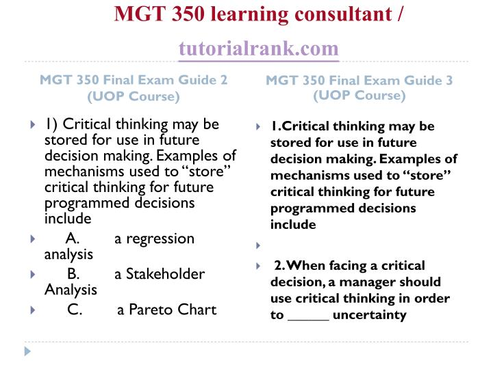 Mgt 350 learning consultant tutorialrank com2