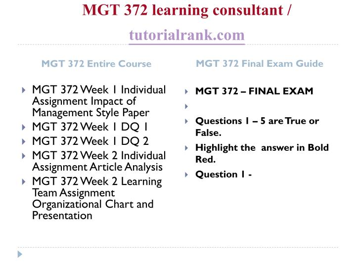 Mgt 372 learning consultant tutorialrank com1