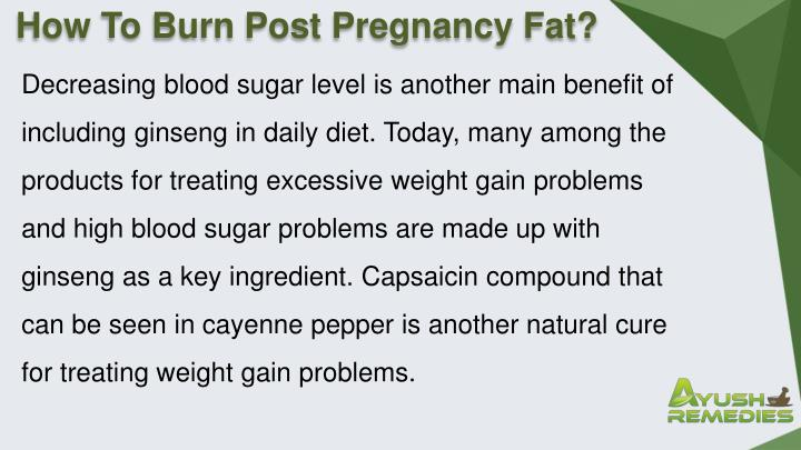 How To Burn Post Pregnancy Fat?