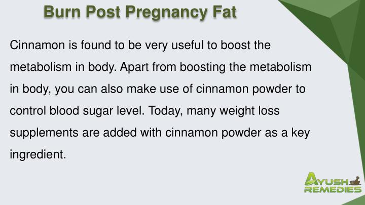 Burn Post Pregnancy Fat