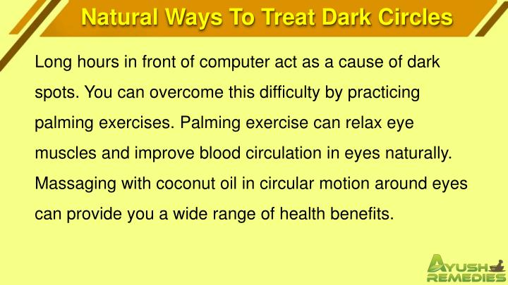 Natural Ways To Treat Dark Circles