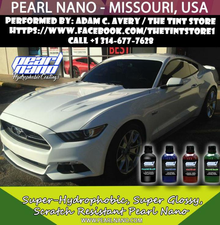 Ceramic coating performed by adam c avery pearl nano coating installer in missouri usa