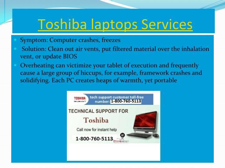 Toshiba laptops Services