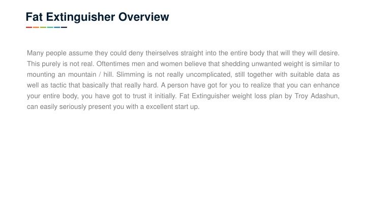 Fat Extinguisher Overview