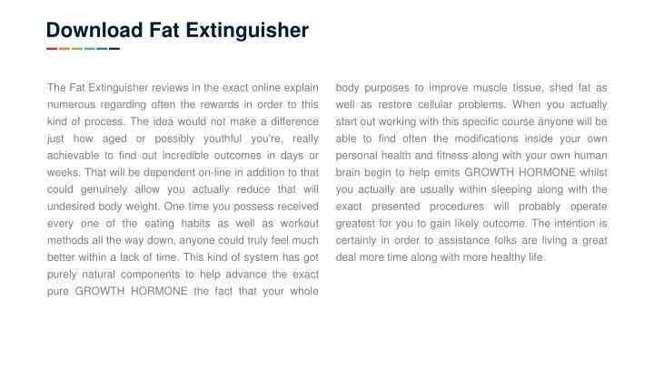 Download Fat Extinguisher