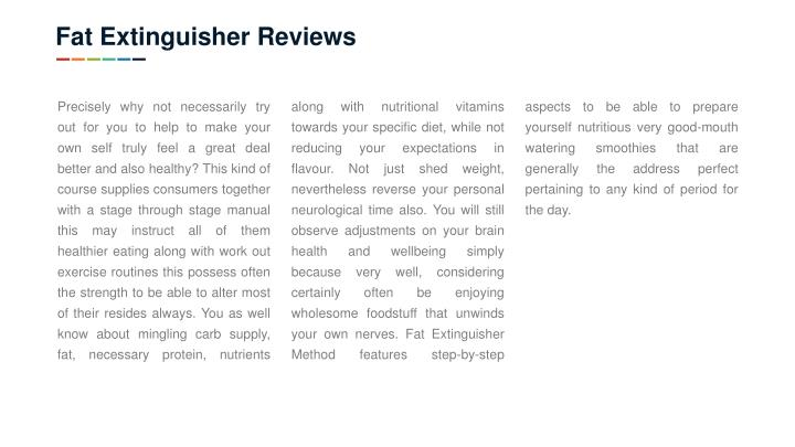 Fat Extinguisher Reviews