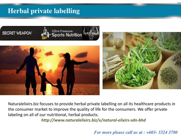 Herbal private labelling