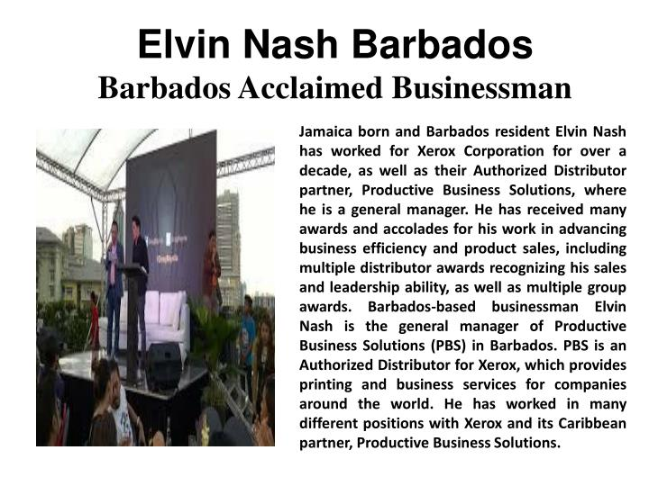 Elvin Nash Barbados