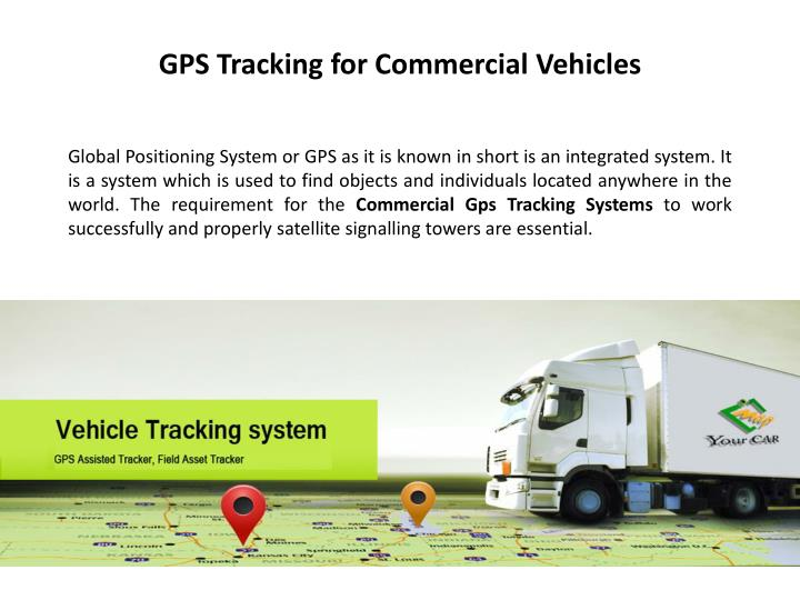 Gps tracking for commercial vehicles