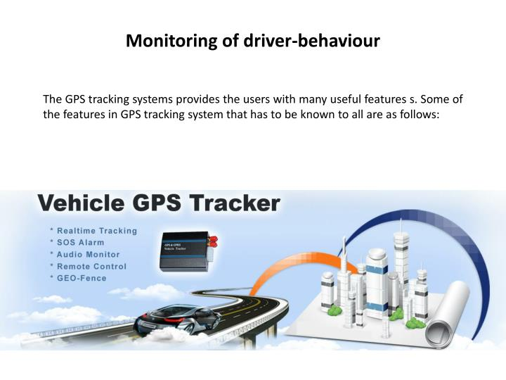 Monitoring of driver-behaviour