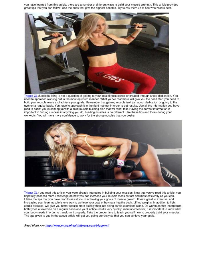 you have learned from this article, there are a number of different ways to build your muscle strength. This article provided