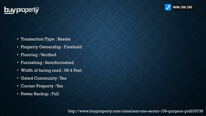 Transaction Type : Resale
