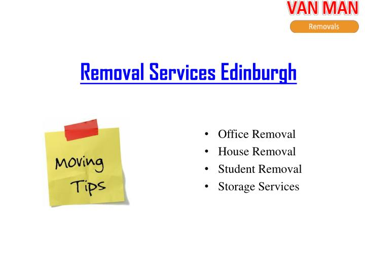 Removal Services Edinburgh