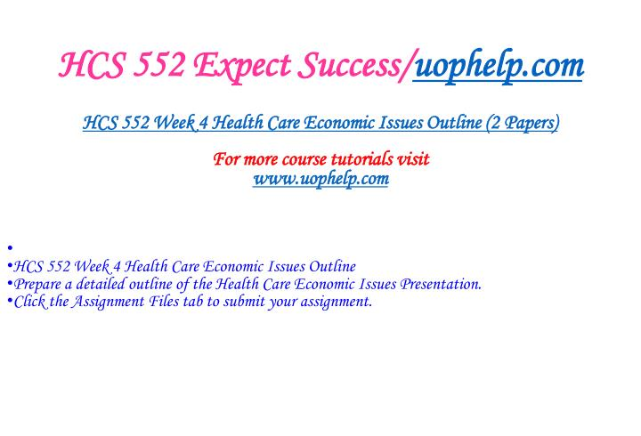 HCS 552 Expect Success/