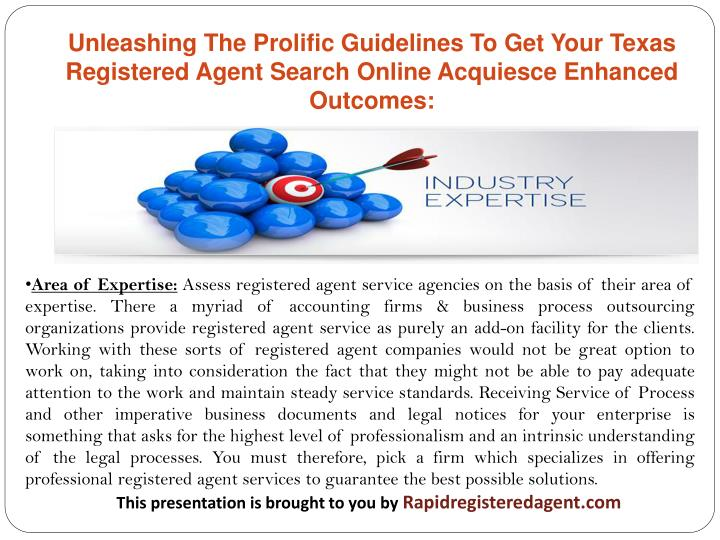 Unleashing The Prolific Guidelines To Get Your Texas Registered Agent Search Online Acquiesce Enhanced Outcomes: