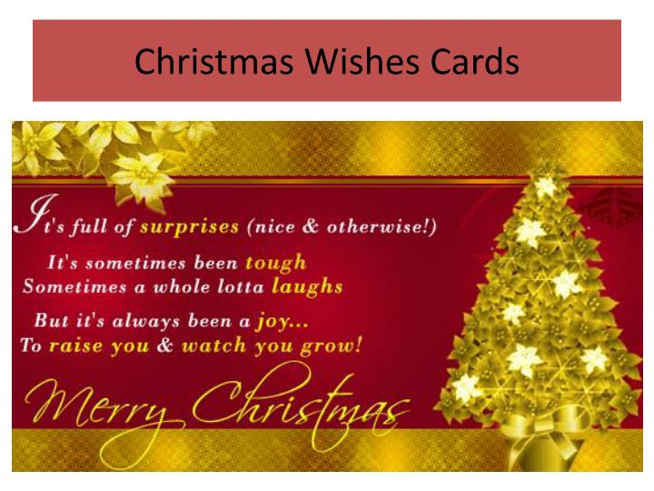 Christmas Wishes Cards