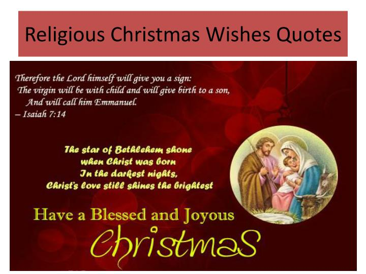 Religious Christmas Wishes Quotes