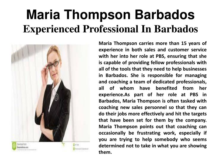 Maria Thompson Barbados