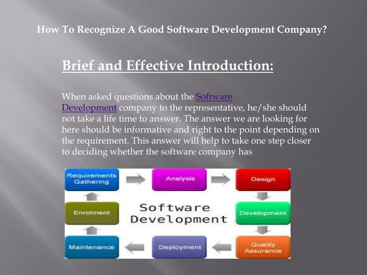 How To Recognize A Good Software Development Company?
