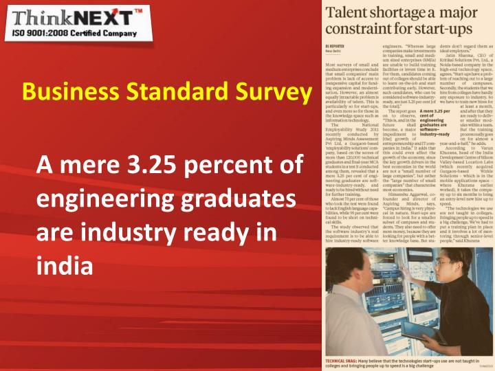 Business Standard Survey