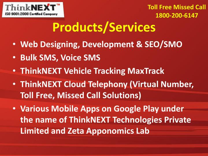 Toll Free Missed Call  1800-200-6147