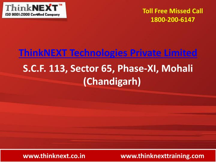 Www thinknext co in www thinknexttraining com