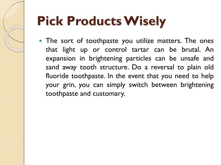 Pick Products Wisely