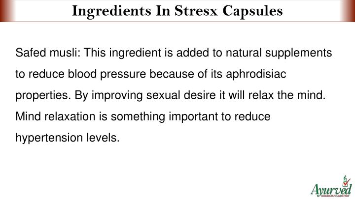 Ingredients In Stresx Capsules