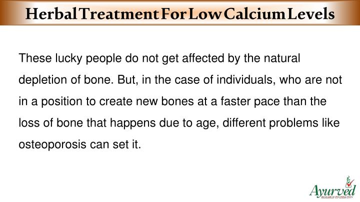 Herbal Treatment For Low Calcium Levels