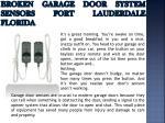 broken garage door system sensors fort lauderdale florida