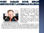 noisy garage door repair service fort lauderdale florida