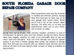 south florida garage door repair company