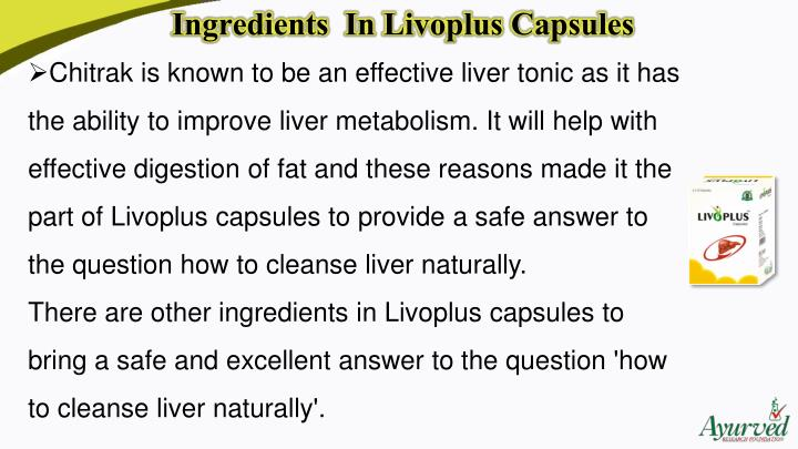 Ingredients  In LivoplusCapsules