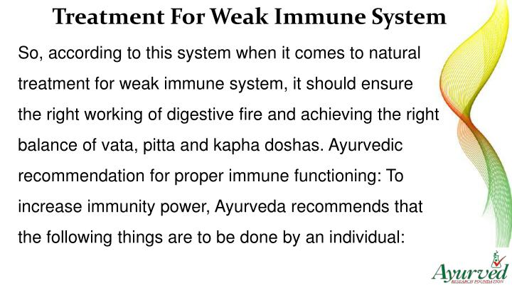 Treatment For Weak Immune System