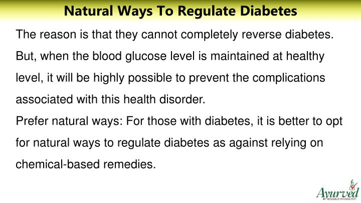 Natural Ways To Regulate Diabetes