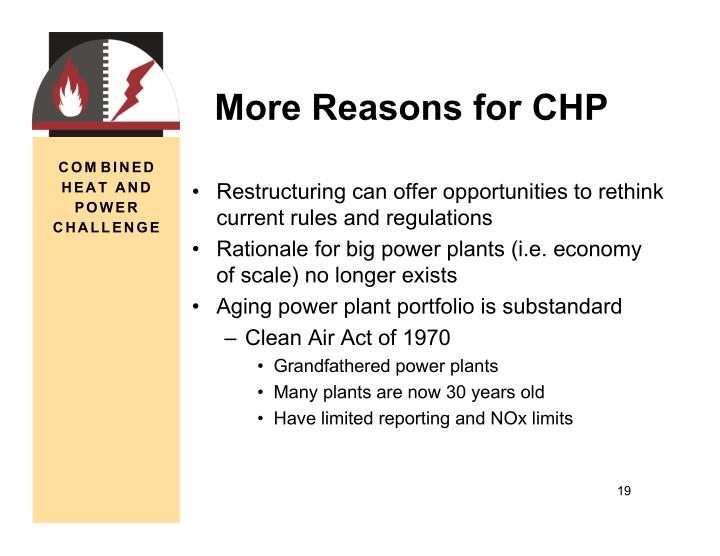 More Reasons for CHP