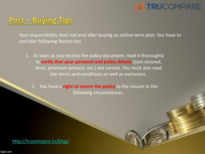 Post – Buying Tips