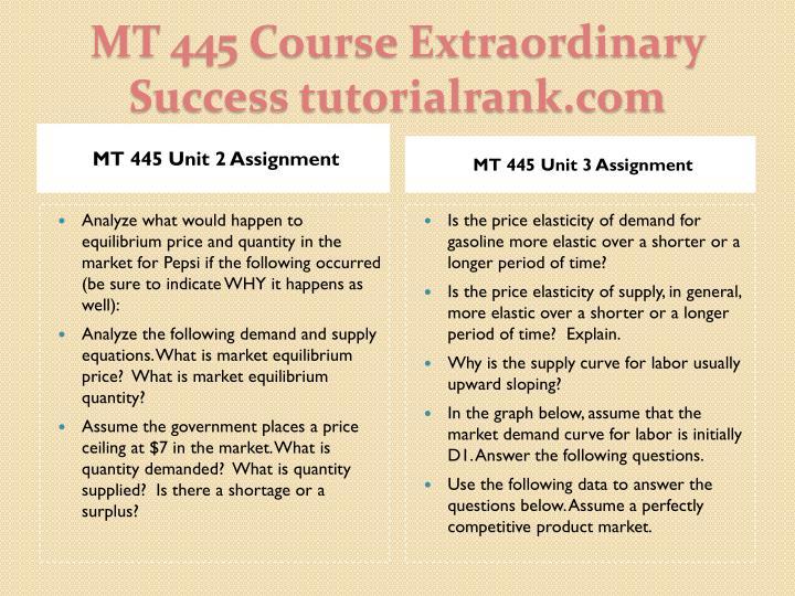 MT 445 Unit 2 Assignment