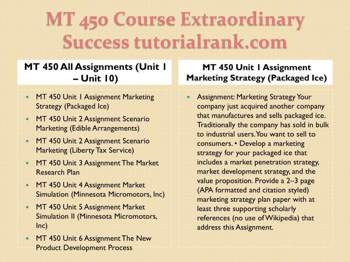 MT 450 All Assignments (Unit 1 – Unit 10)