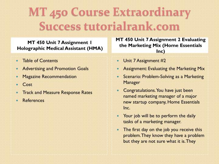 MT 450 Unit 7 Assignment 1 Holographic Medical Assistant (HMA)