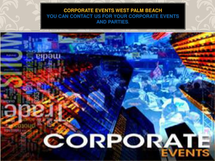 Corporate Events west palm