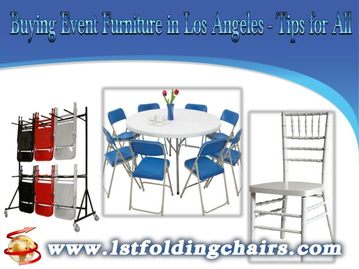 Buying event furniture in los angeles tips for all
