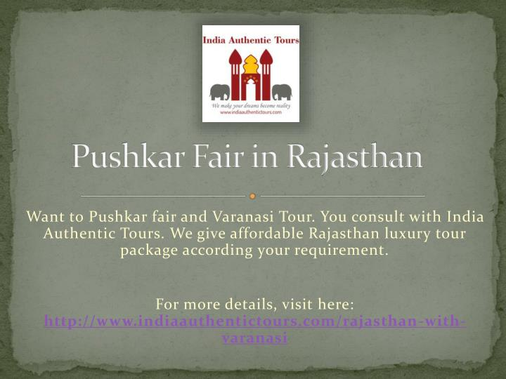 Pushkar fair in rajasthan