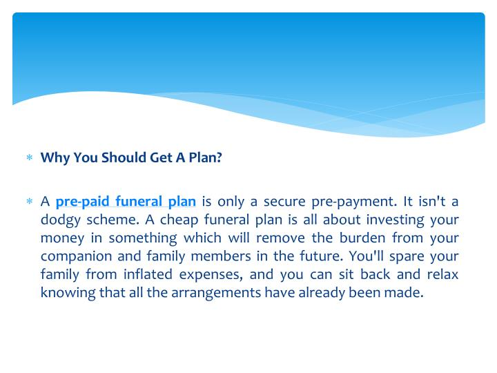 Why You Should Get A Plan?