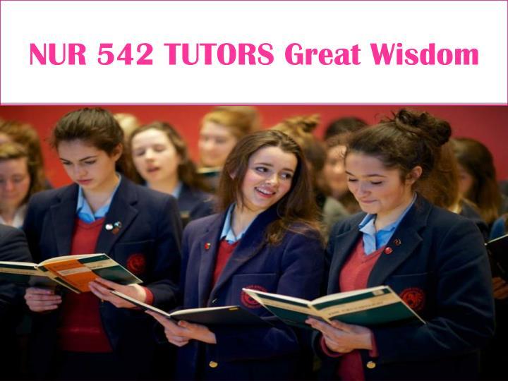 NUR 542 TUTORS Great