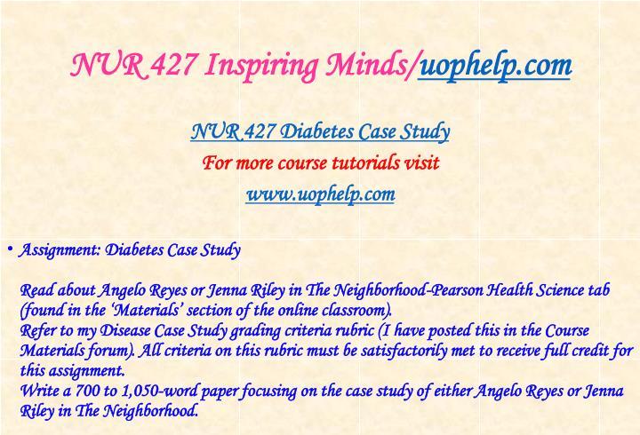 NUR 427 Inspiring Minds/