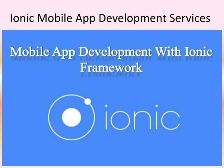 Ionic mobile app development services
