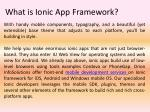 what is ionic app framework