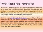 what is ionic app framework2